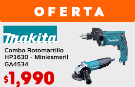 Combo Rotomartillo HP1630 - Miniesmeril GA4534