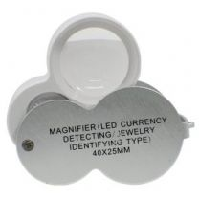 Lupa para Joyero con Led UV 25 mm 40X 260667 OBI